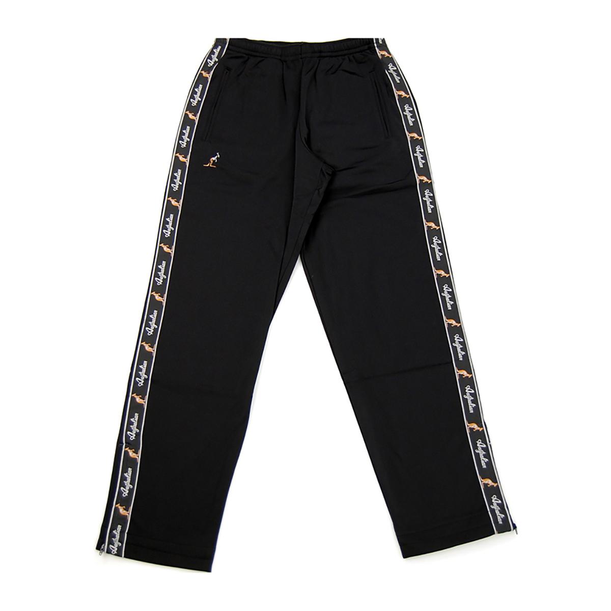 Australian broek met zwarte bies zwart 85057 003