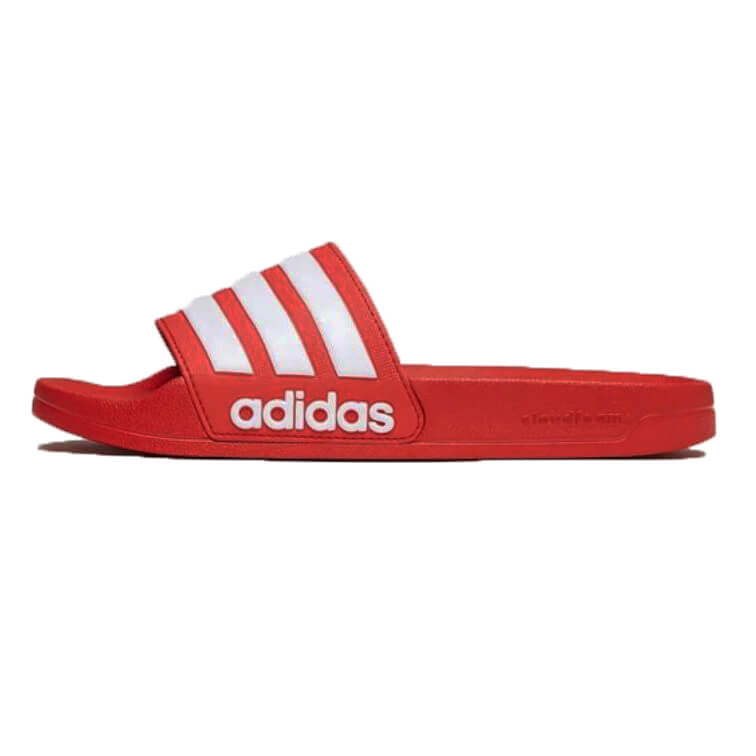 c1f5fc3074e Adidas Cloudfoam Adilette slipper rood - One Fashion