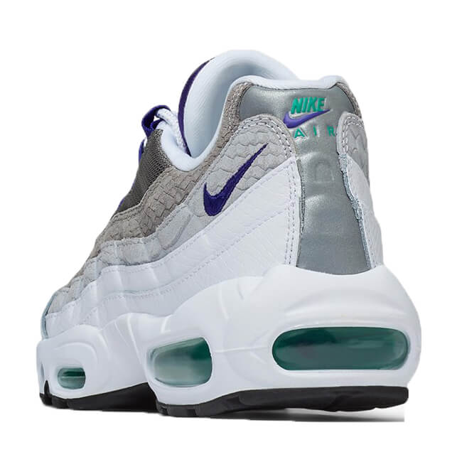 Nike Air Max 95 Lv8 White Court Purple Emerald Green