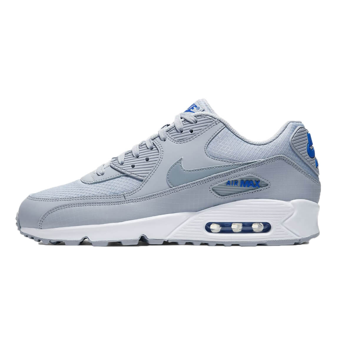 nike air max 90 grijs blauw